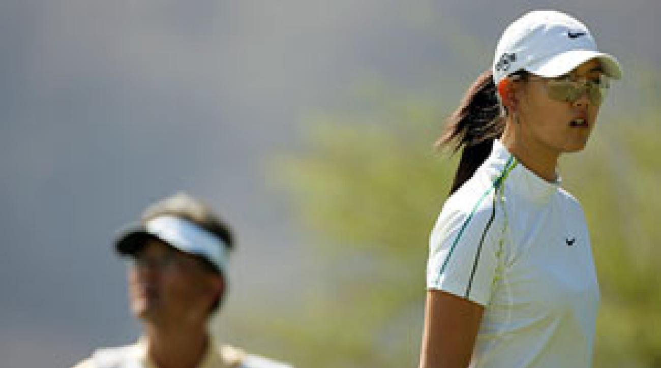 Michelle Wie ended her season with a 76.7 scoring average.