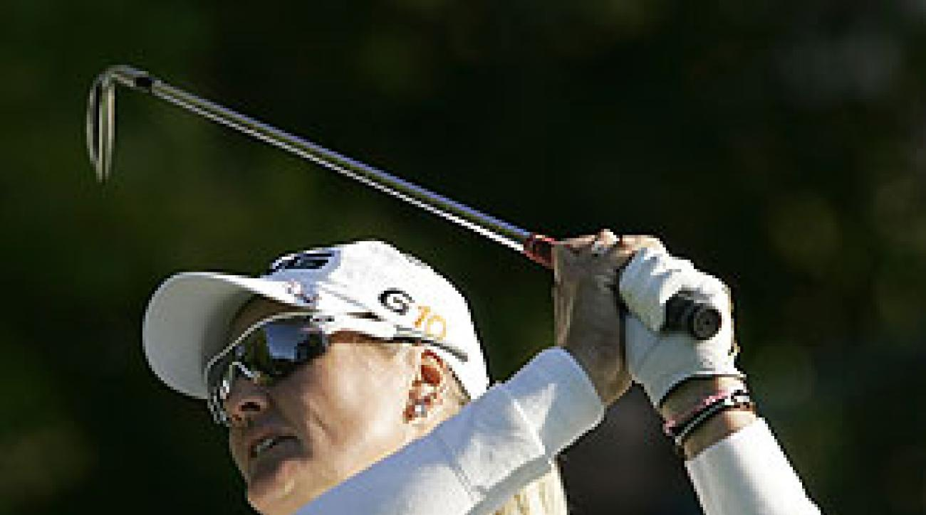Maria Hjorth shot a 6-under 66 for a share of the lead.
