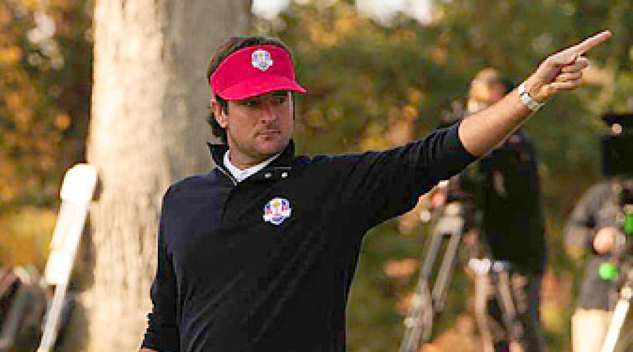 Bubba Watson teamed with Webb Simpson and rolled to a 5 and 4 victory Friday afternoon.