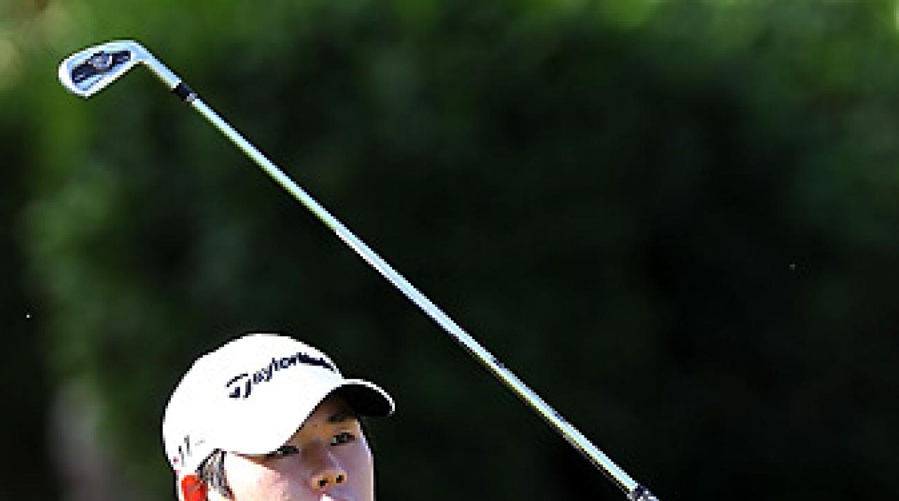 Si Woo Kim earned his PGA Tour card at Q-school, but can't use it until he turns 18 on June 28.