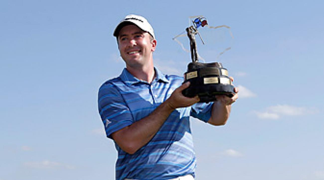 Martin Laird won a trophy, and a pair of cowboy boots, at the Texas Open.