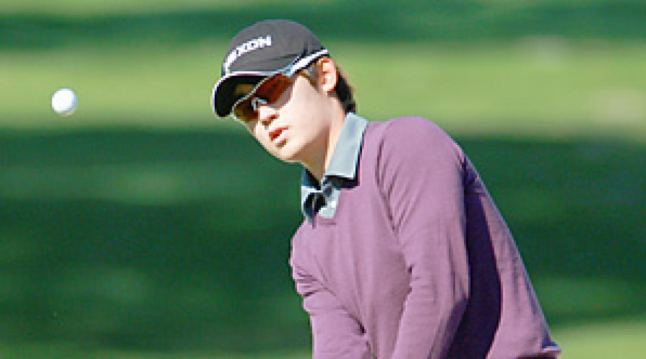 At age 20, Bio Kim is the youngest player on tour this year.
