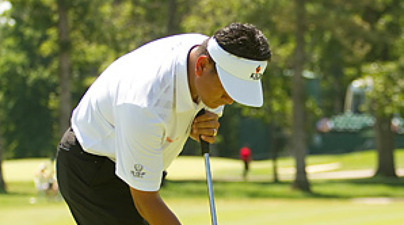 K.J. Choi used a new putter and stance at last week's John Deere Classic.