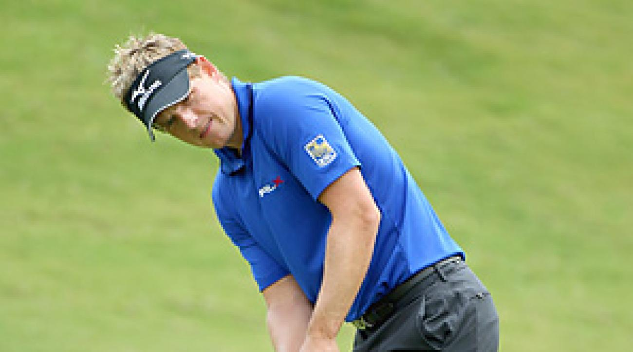 Luke Donald beat Ryan Moore 4 and 3 in his opening match.