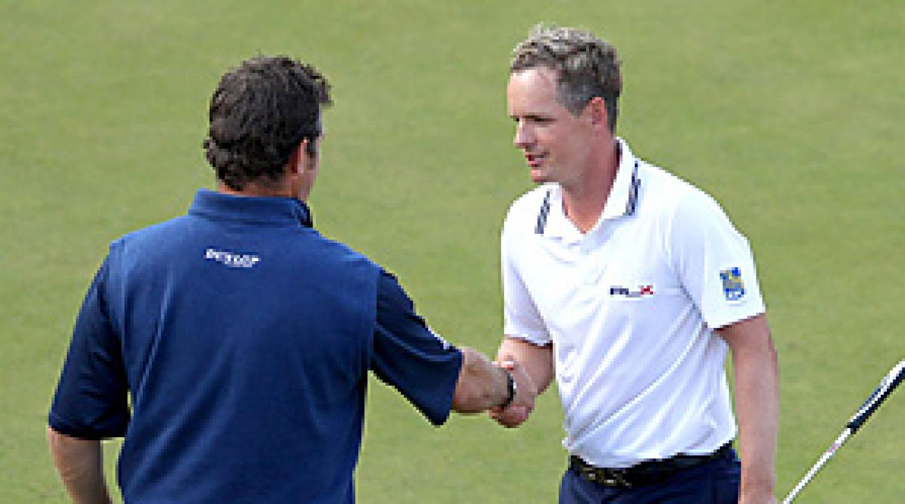 Luke Donald beat Lee Westwood on the first hole of sudden death at the BMW PGA Championship to take over his No. 1 ranking.