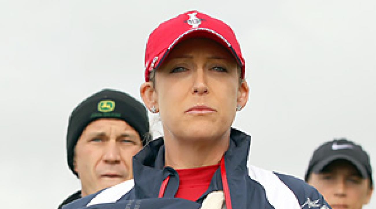 Cristie Kerr was unable to play Sunday singles because of tendinitis in her right arm.