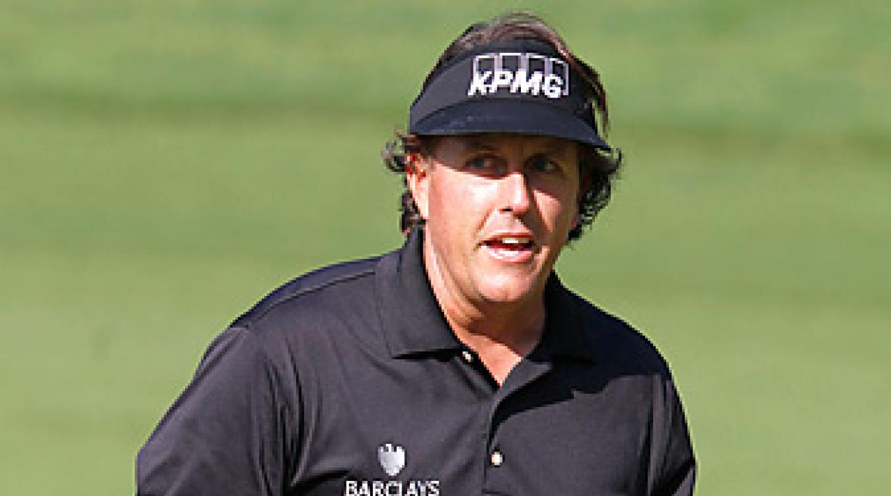 Phil Mickelson is one shot back after an opening-round 66 at the HSBC Champions.
