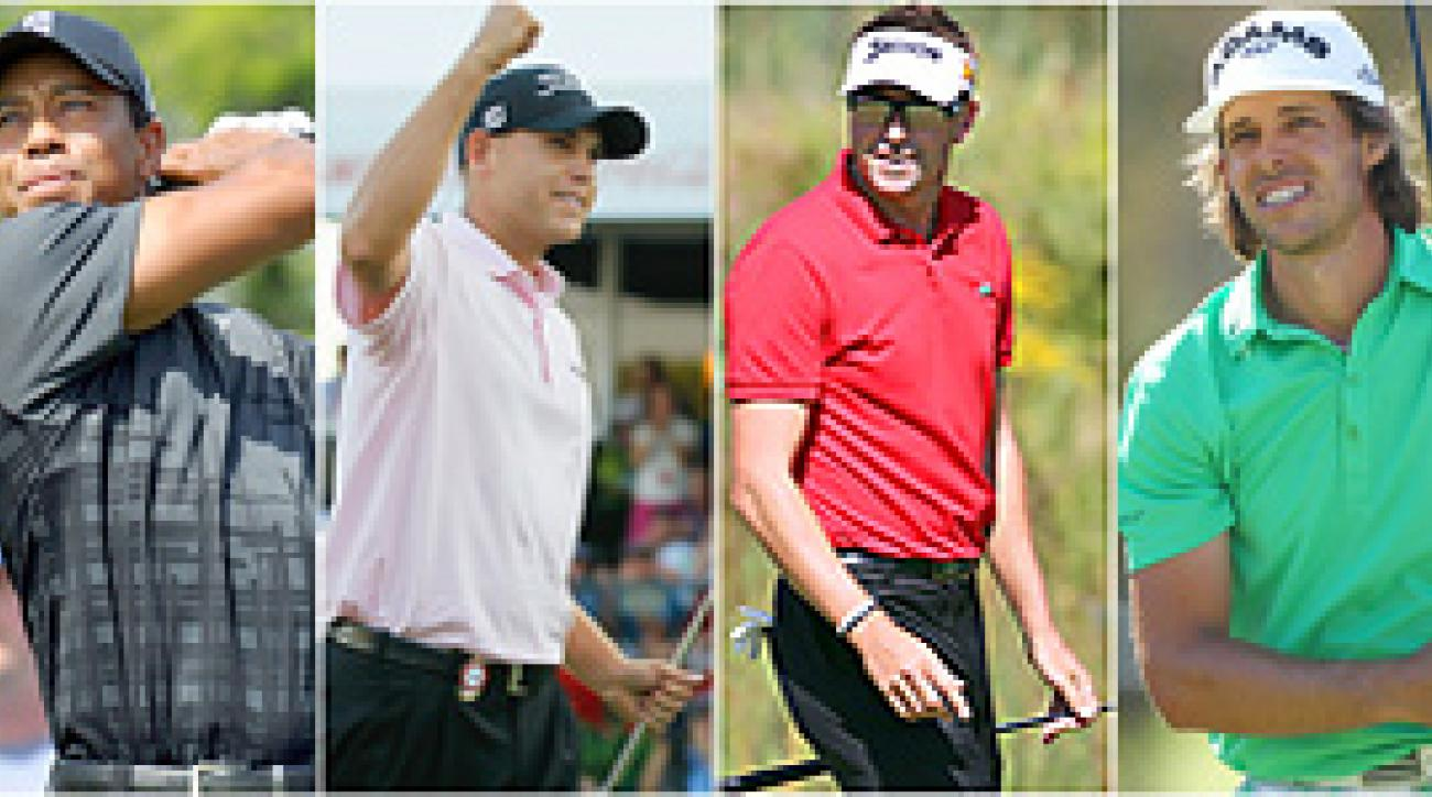 Tiger Woods, Bill Haas, Robert Allenby and Aaron Baddeley were selected by their captains to round out the Presidents Cup teams.