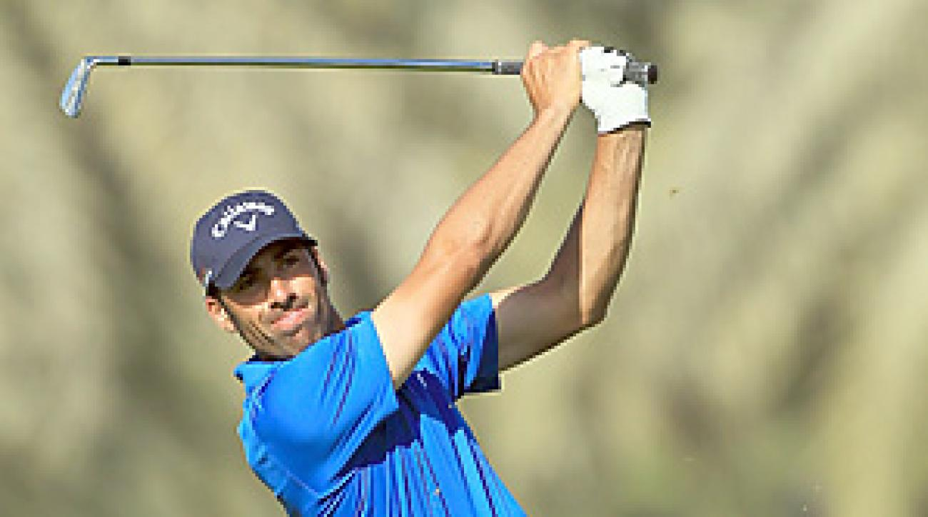 Alvaro Quiros won the Dubai Desert Classic by one stroke.