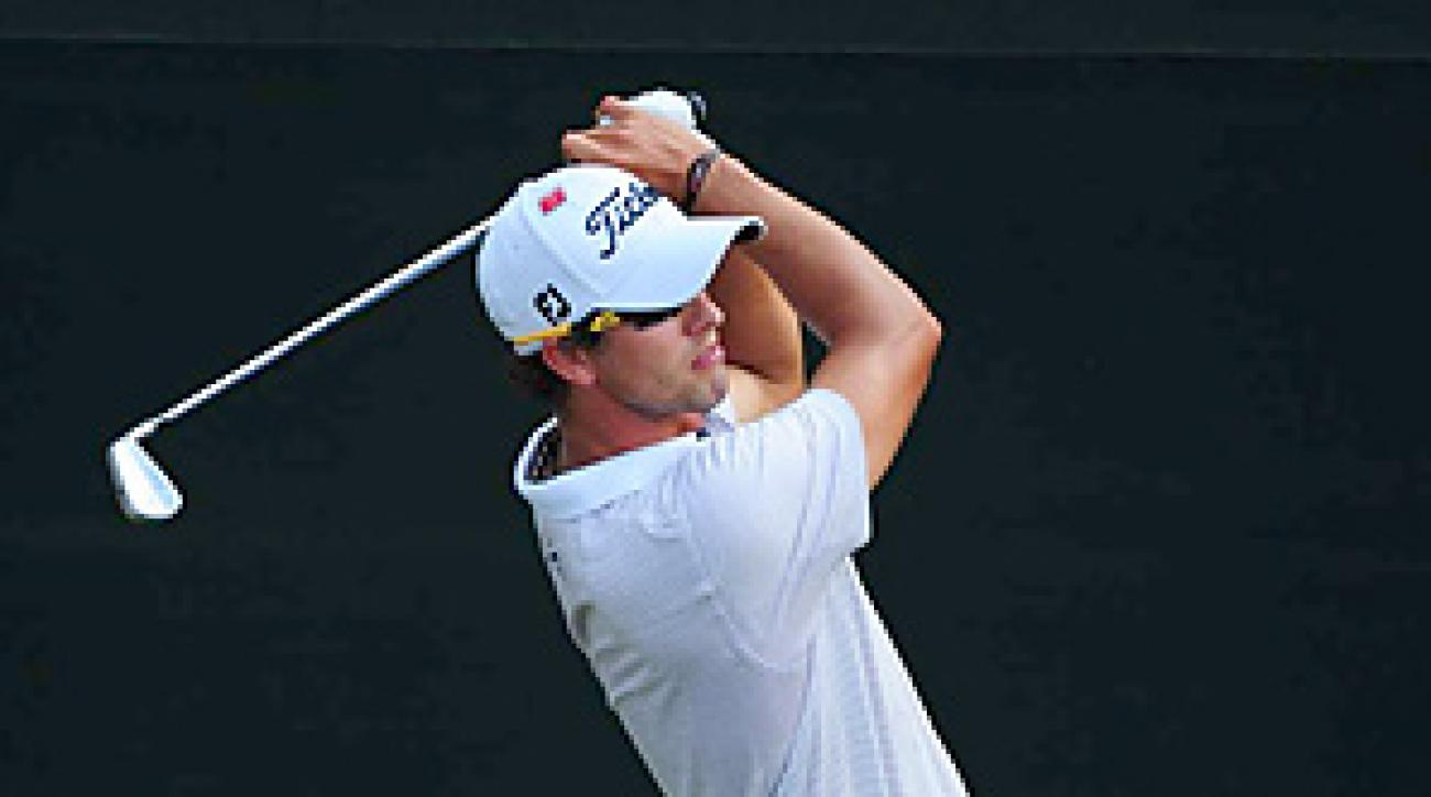 Adam Scott is the defending champion at the Valero Texas Open.