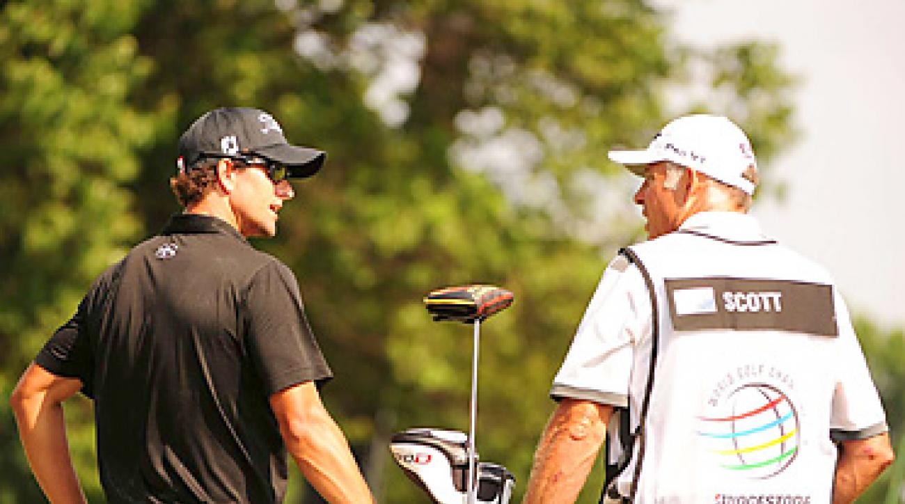 Adam Scott and Steve Williams teamed up and won the Bridgestone Invitational by four shots.