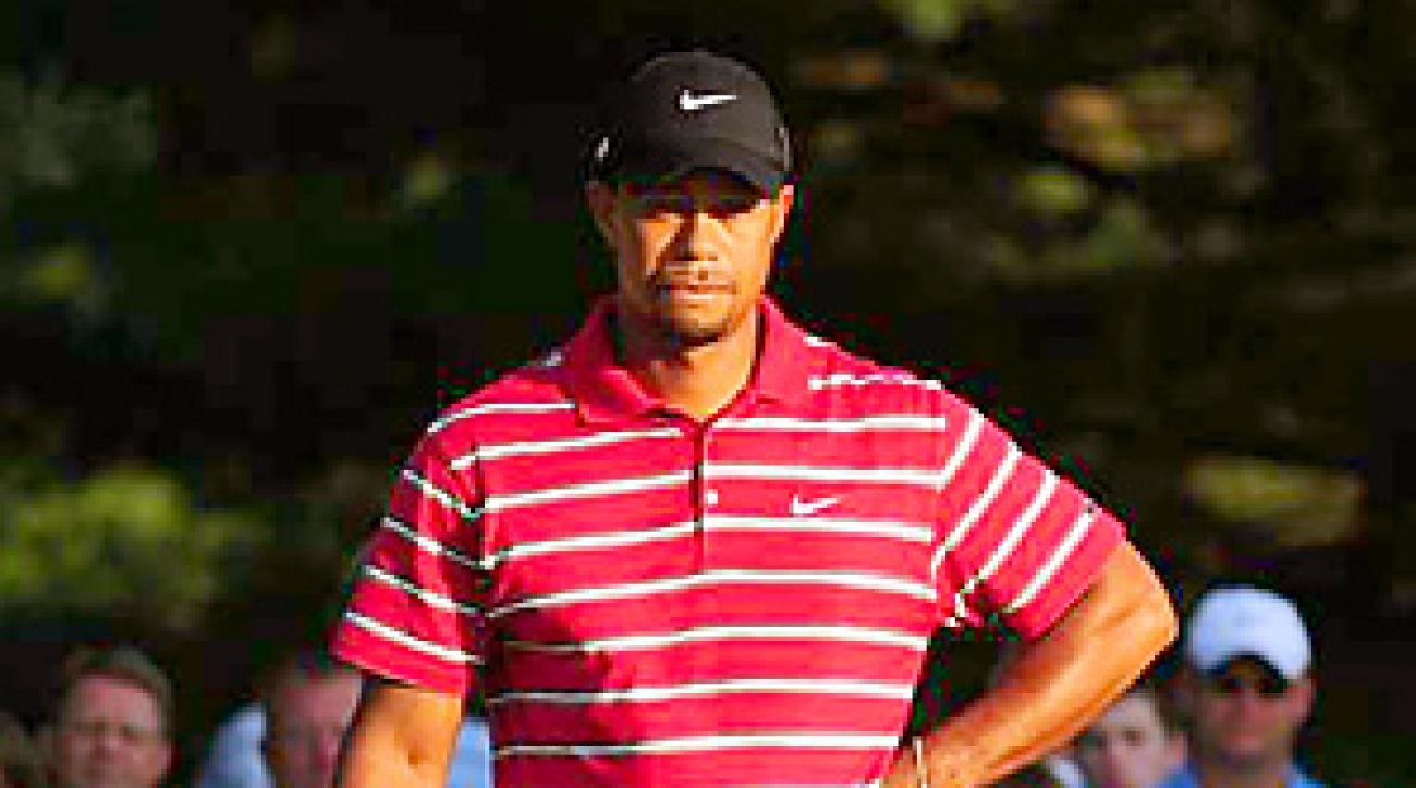Woods has not won a tournament since news of his sex scandal broke last fall.