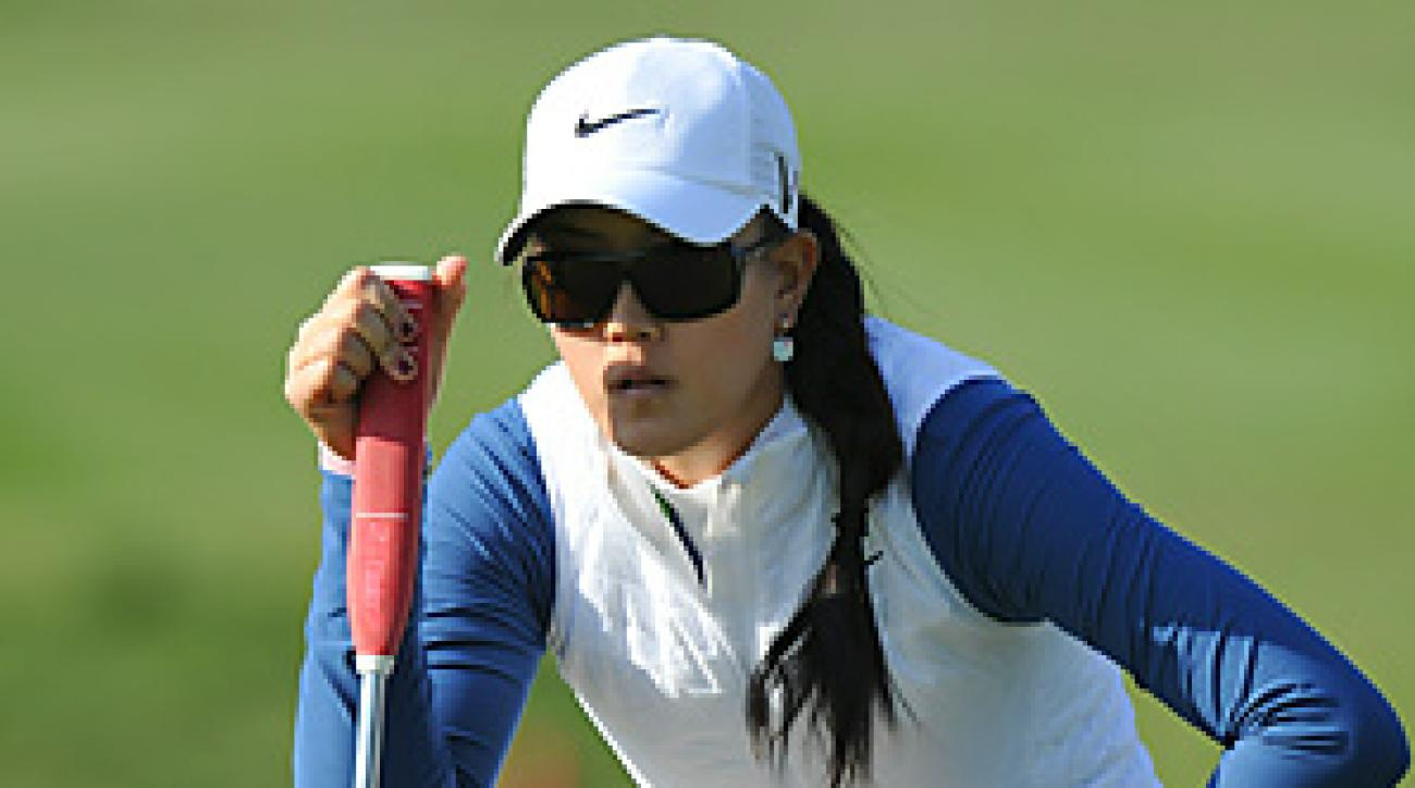 Michelle Wie shot a 73 in the second round at the LPGA Hana Bank Championship.