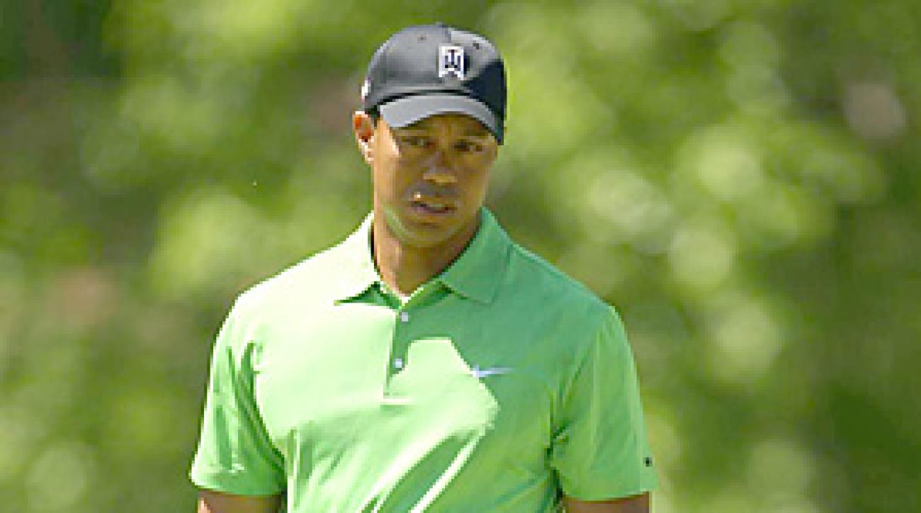 Tiger Woods made four bogeys and one double-bogey en route to an opening-round 74.