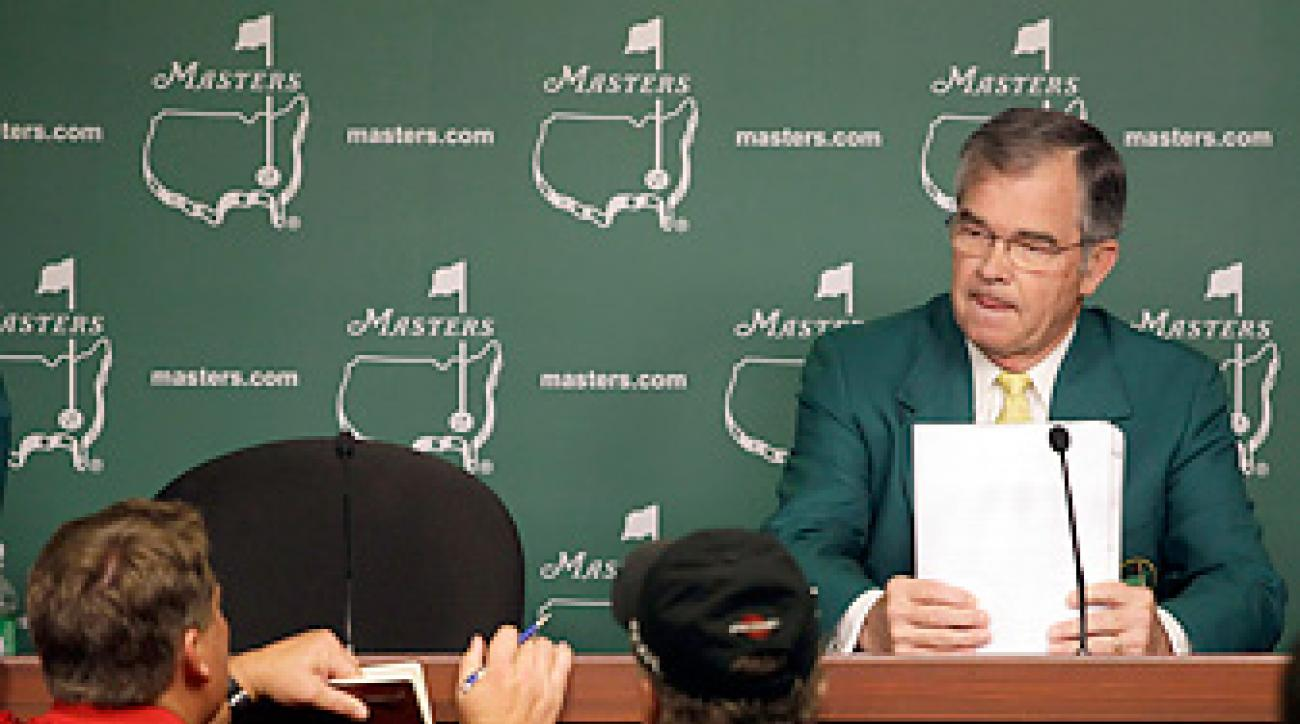 Billy Payne stonewalled reporters asking about Augusta's all-male membership policy.