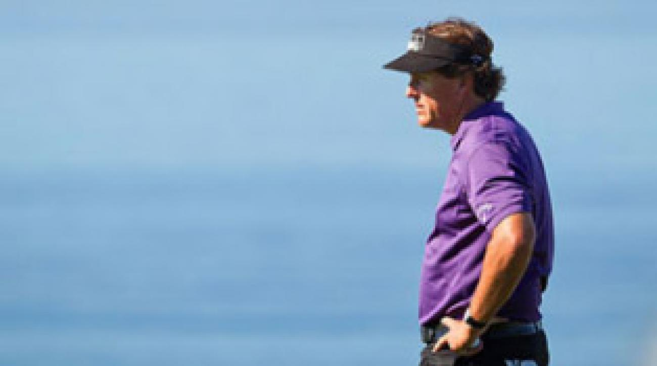 The person who caught Mickelson's ire has posted salacious rumors about the star golfer on the Internet.