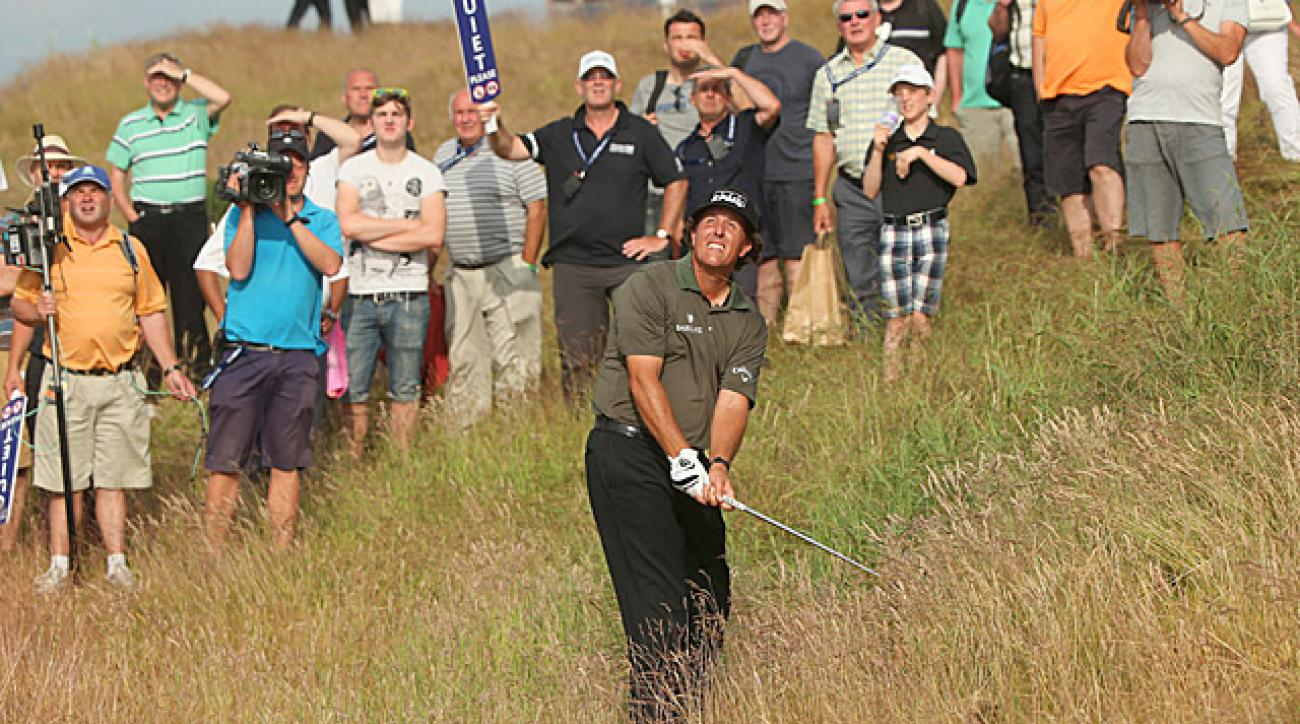 MIckelson shot a round of 70 in prime scoring conditions.