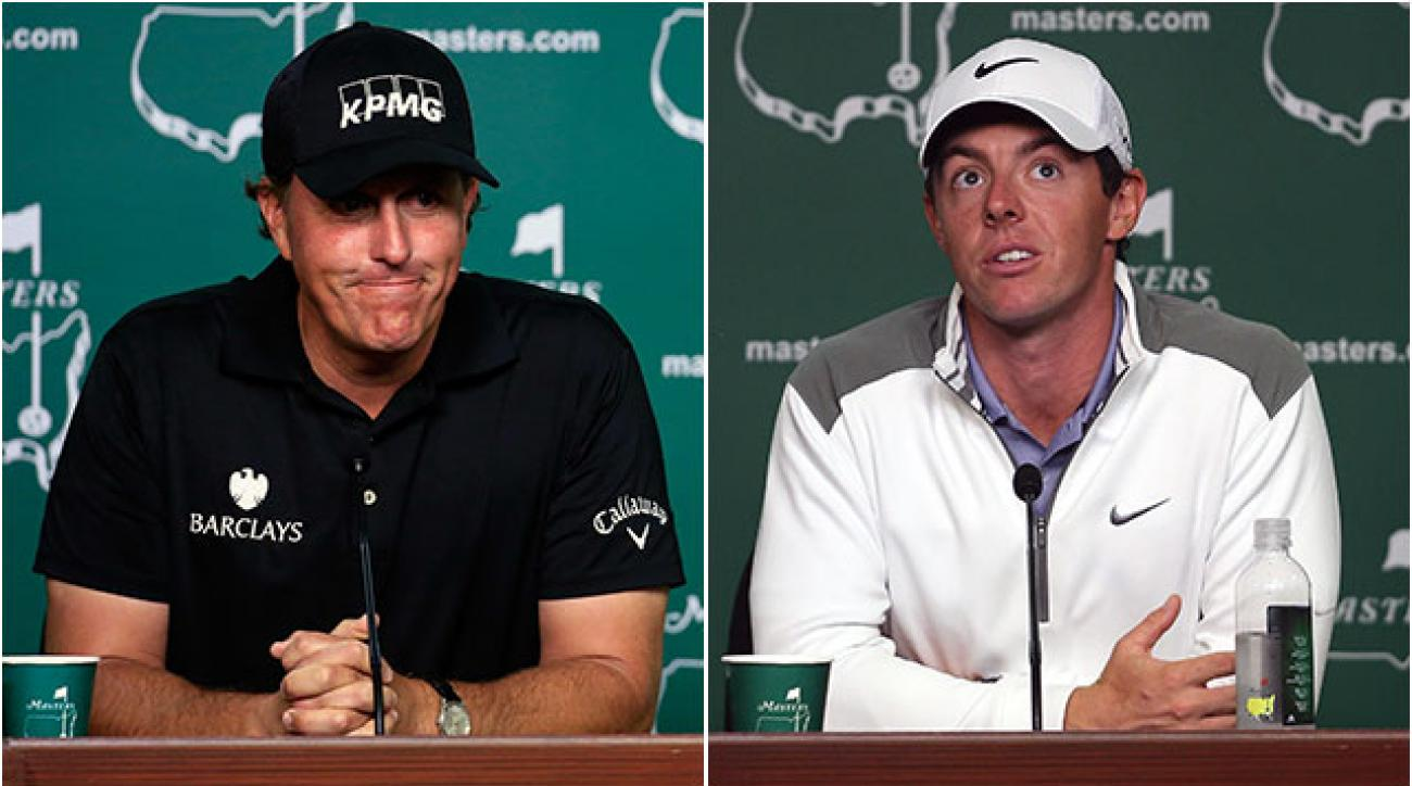 Phil Mickelson has won three times at Augusta, while Rory McIlroy's best finish was T15 in 2011.