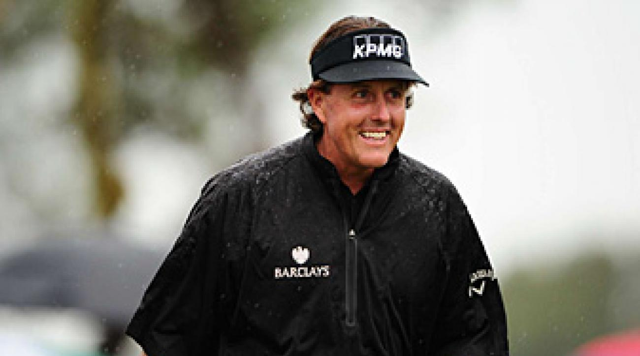 Phil Mickelson made the 36-hole cut on the number.