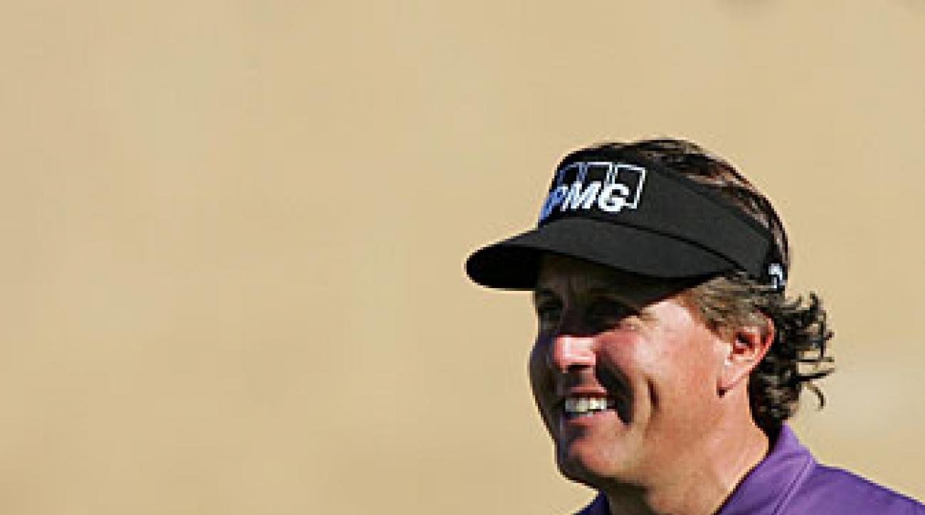 Phil Mickelson missed the cut last week at Torrey Pines.