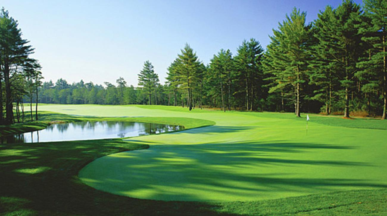 The Nicklaus course at Pinehills, 45 minutes from TPC Boston.