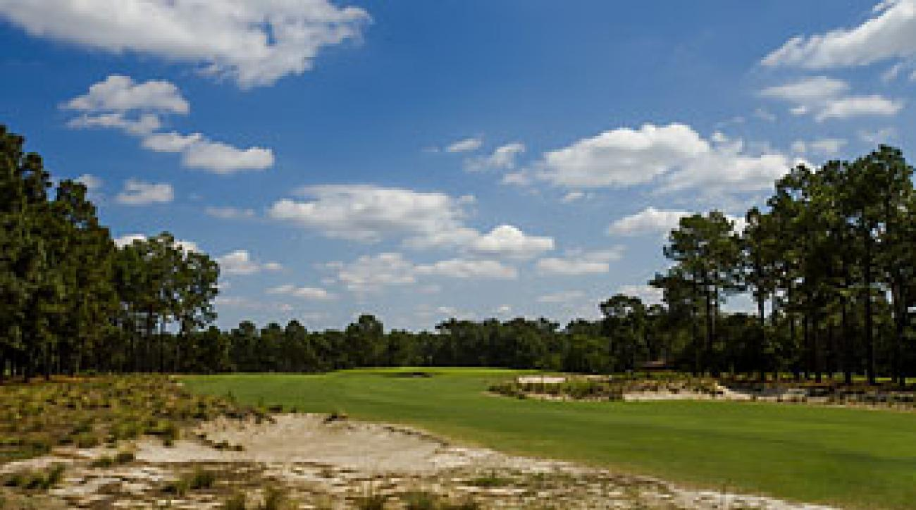 The third hole at Pinehurst No. 2.