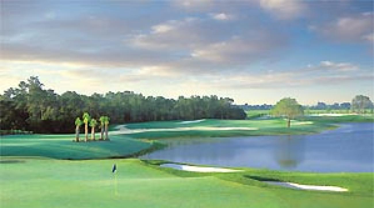 The 4th green at Fazio's latest course in Florida.