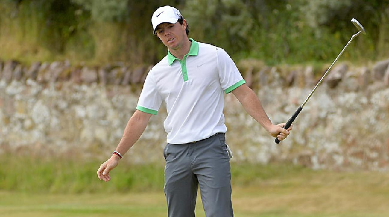 McIlroy's struggles continued Thursday at Muirfield, where the World No. 2 shot a 79.