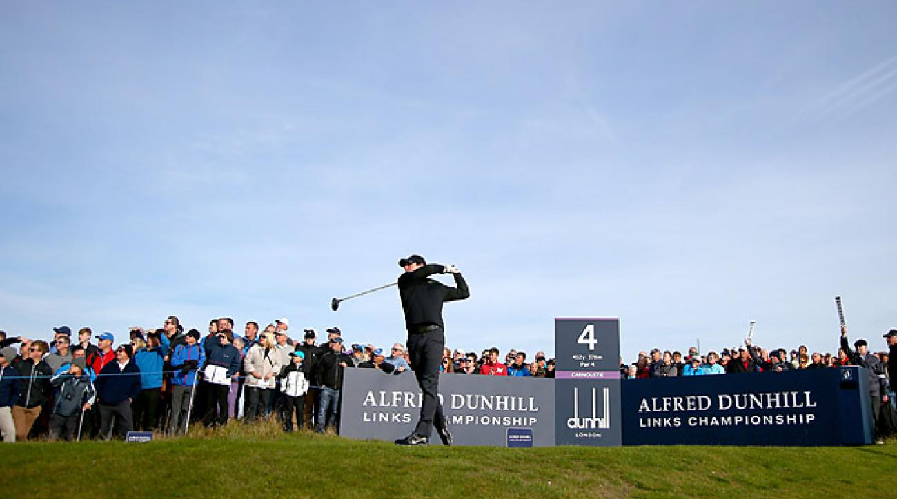 McIlroy shot a 73 at Carnoustie in the first round.