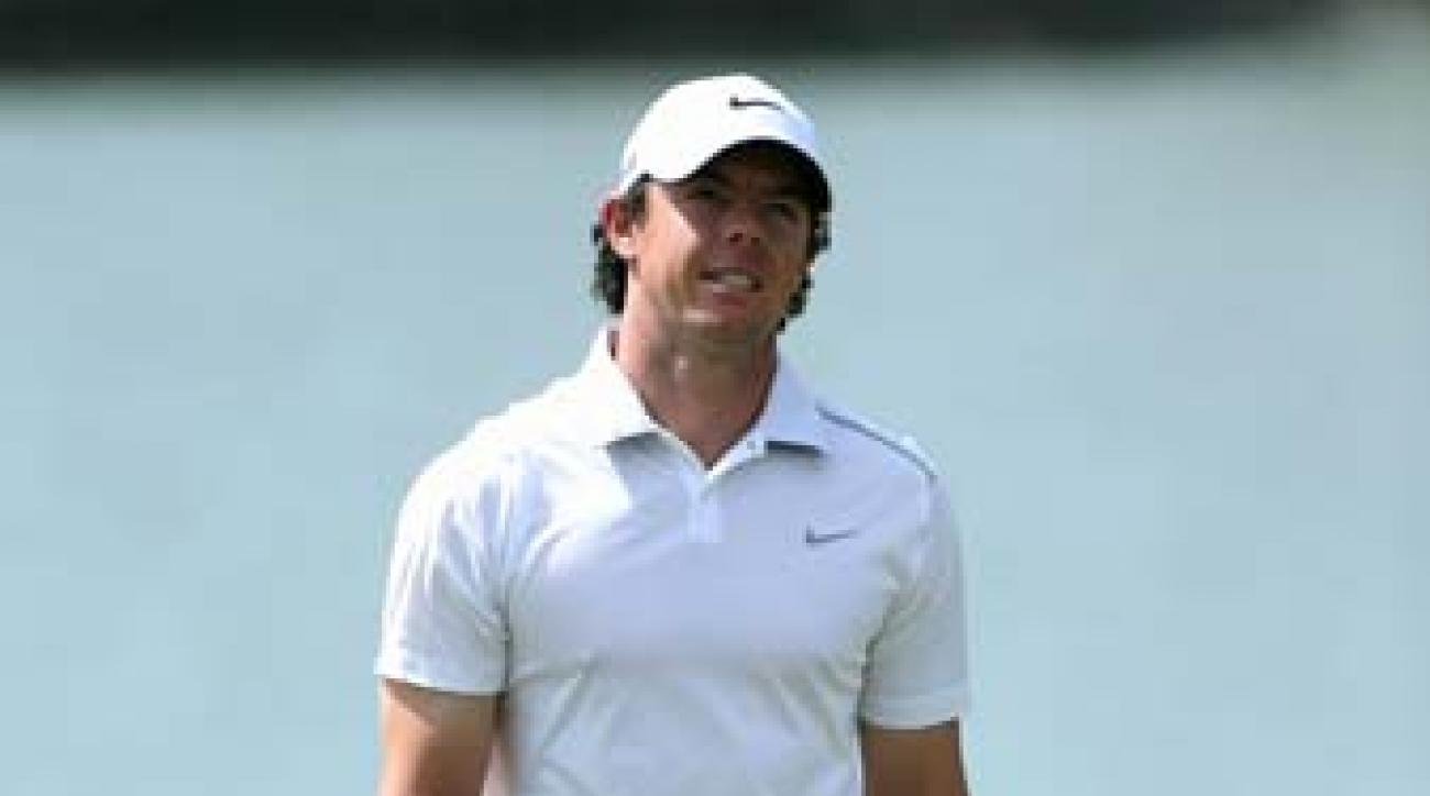 Rory McIlroy misses a putt during the third round of the WGC Cadillac Championship at Doral. McIlroy has struggled so far this season, and last week he lost the World No. 1 ranking to Tiger Woods.