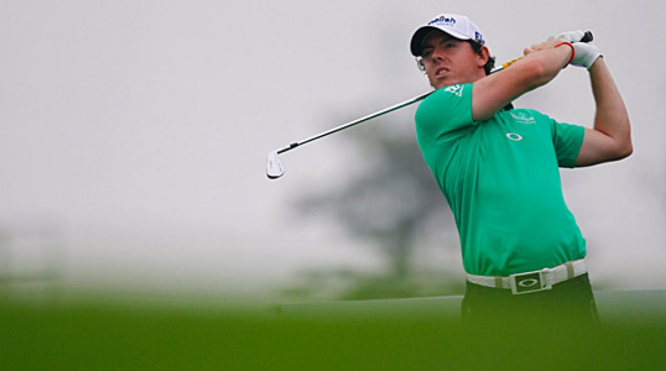 Rory McIlroy is five shots back after a five-under 67 on Thursday.