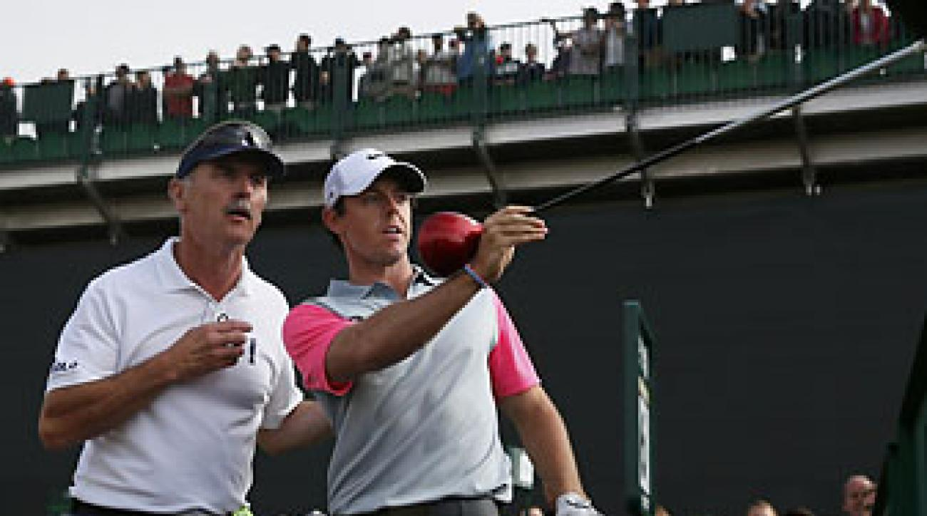 Rory MclIlroy asks to have a heckler removed from the British Open after the heckler cough in his backswing on the 16th hole at Royal Liverpool.