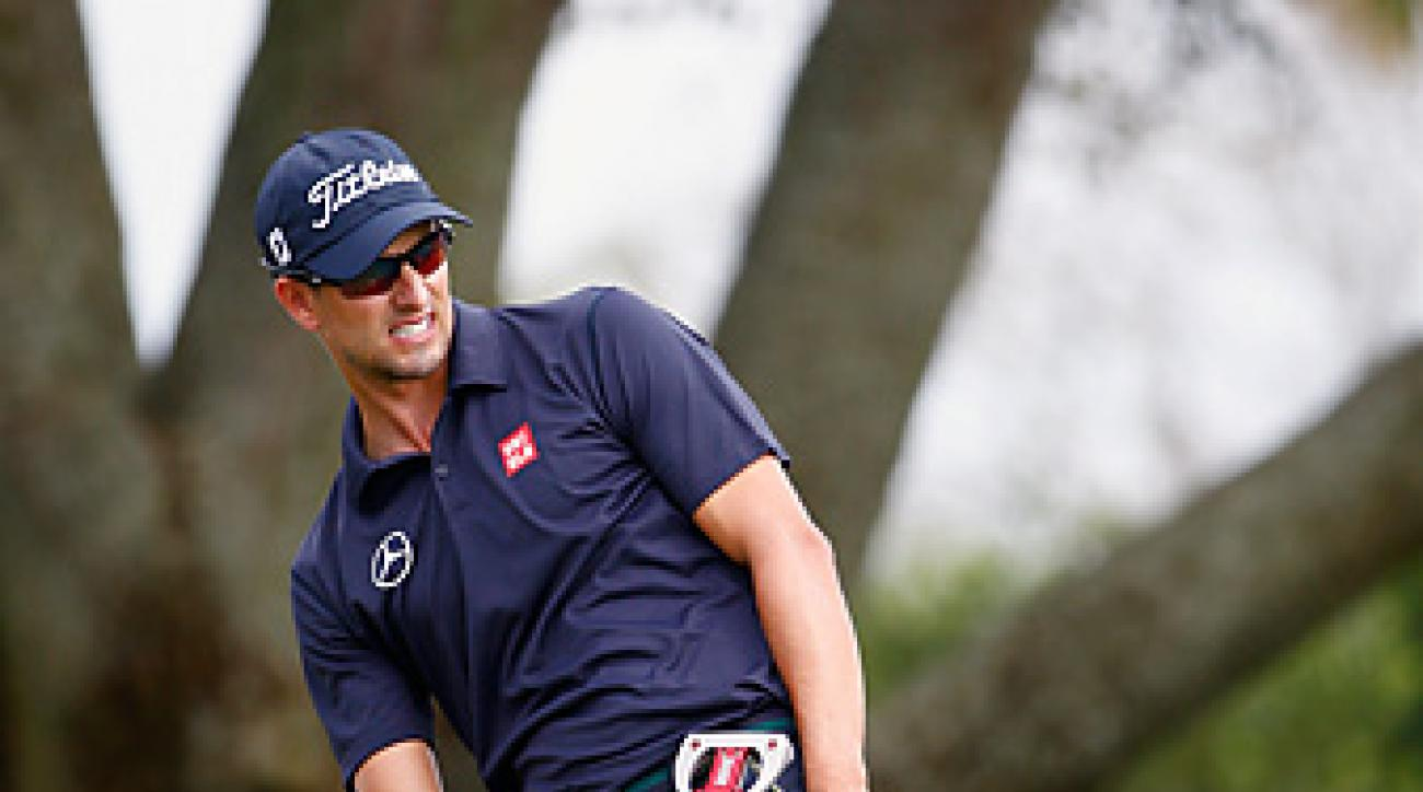 Adam Scott started the day with a three-stroke lead, but Scott carded five bogeys en route to a 4-over 76 to fall to third.