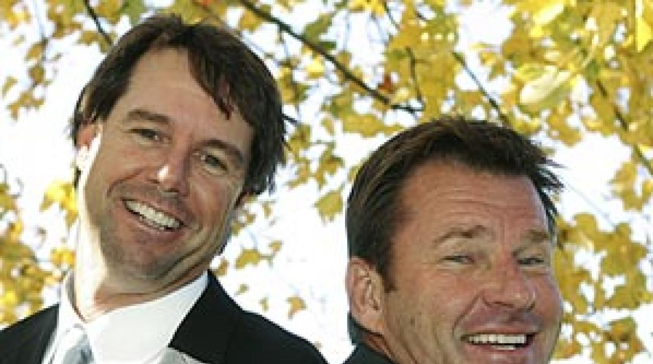 Will Ryder Cup captains Paul Azinger (left) and Nick Faldo make a difference?