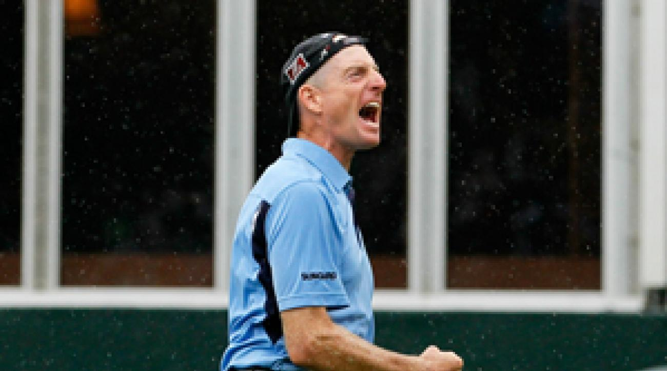 Jim Furyk made three birdies and three bogeys on Sunday.