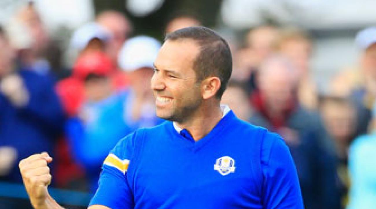 Sergio Garcia shot even par on the front nine.