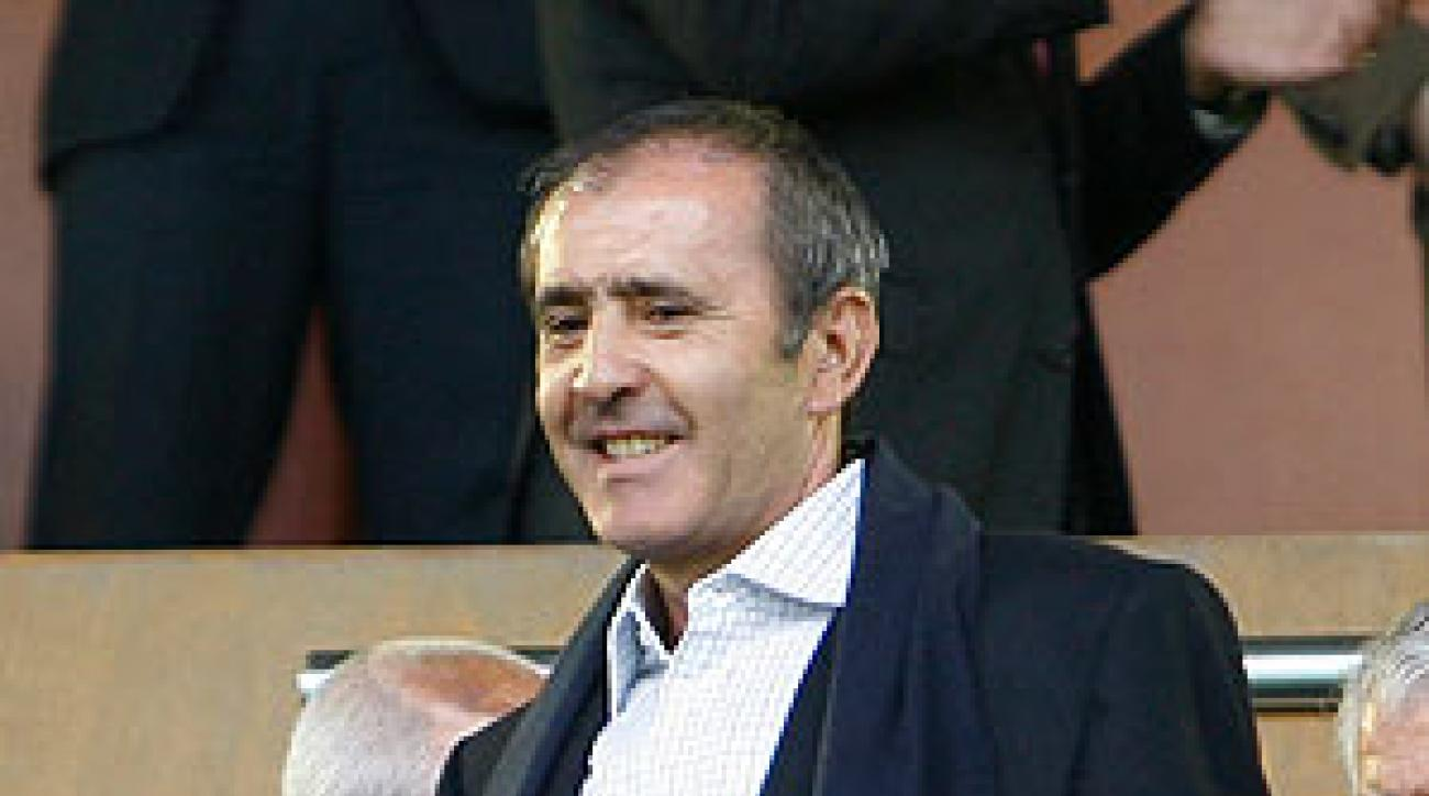 Ballesteros made an appearance before a Spanish La Liga soccer match.
