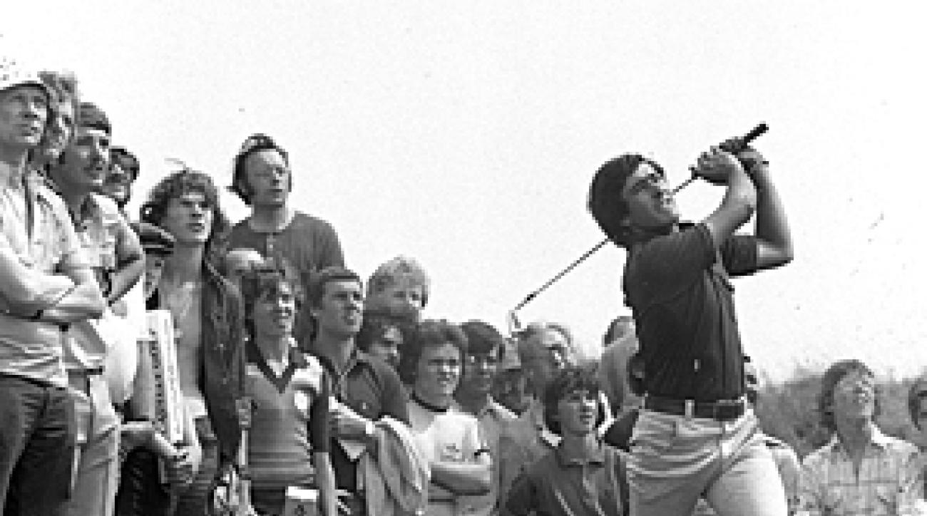 Seve Ballesteros at the 1976 British Open at Royal Birkdale.