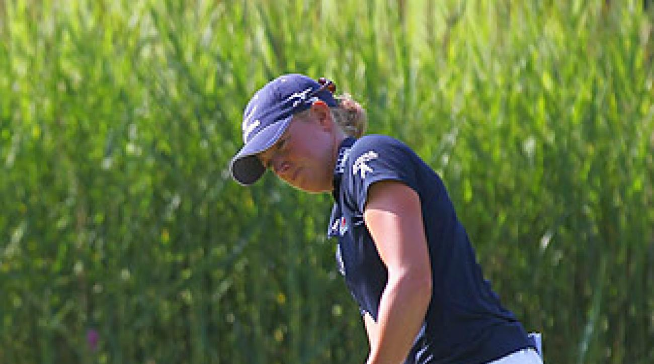 Stacy Lewis's 12 under total was good enough for a one shot lead.