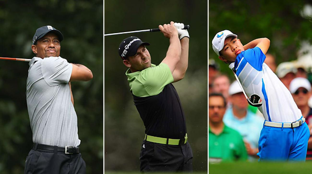 Tiger Woods, Sergio Garcia, Tianlang Guan had big days on Thursday at the Masters.