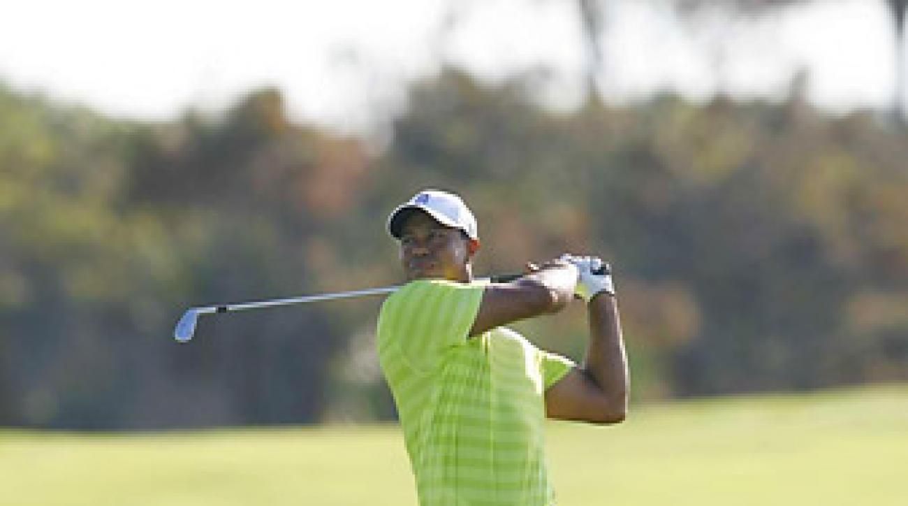 Woods shot a three-under 69 on Thursday.