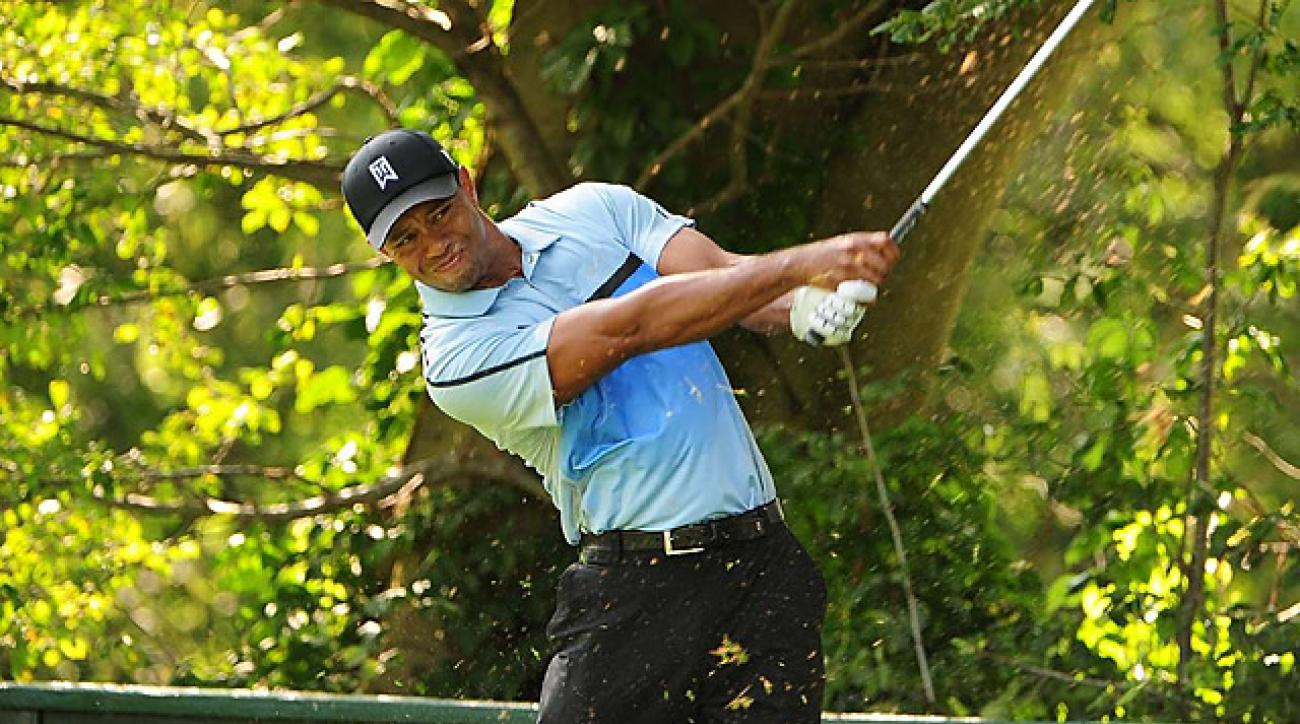 Woods finished with a one-over 71 Thursday.