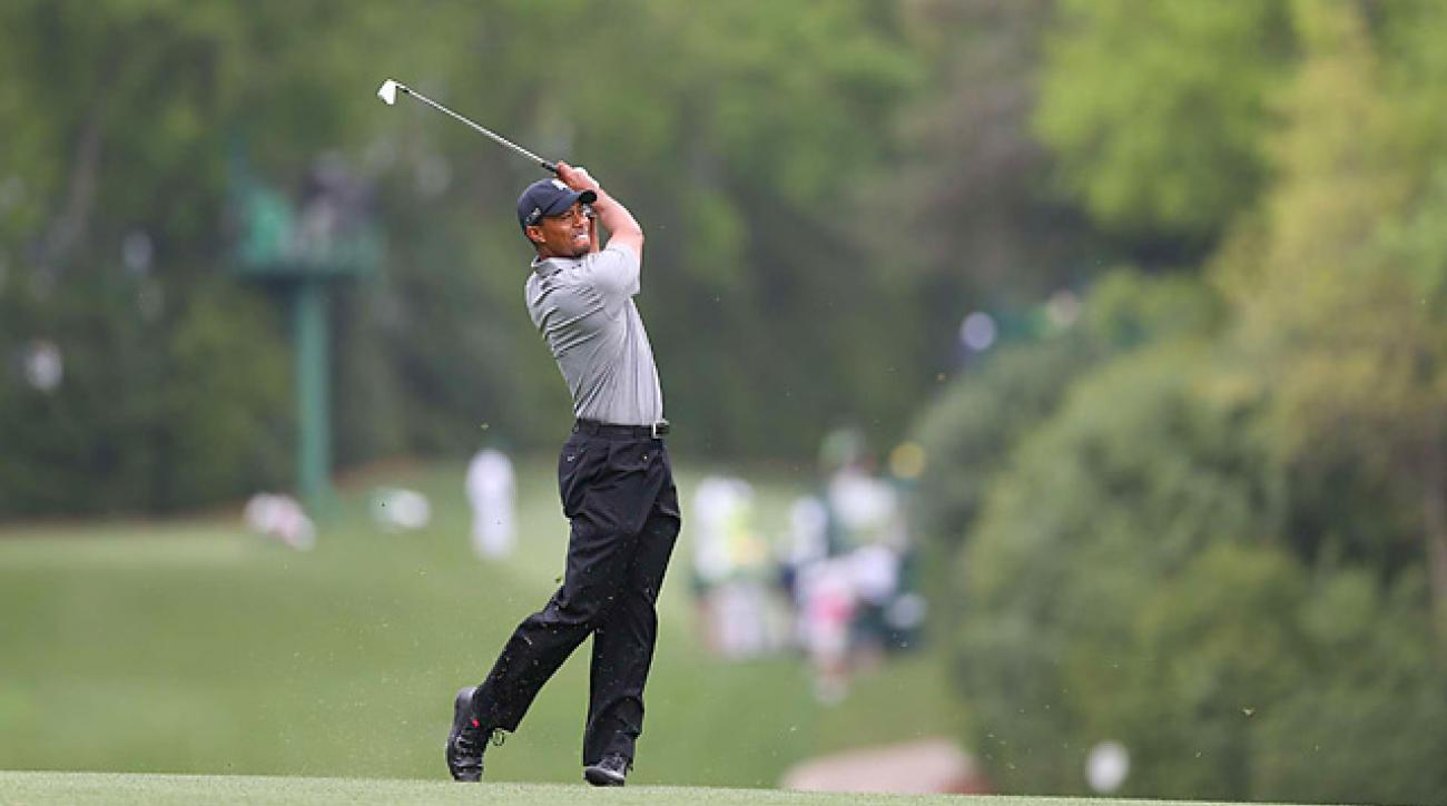 Tiger Woods shot a two-under 70 on Thursday at Augusta.