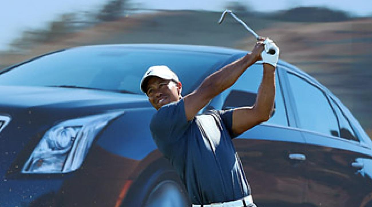 Tiger Woods shot a 75 in the second round, which included a two-stroke penalty.