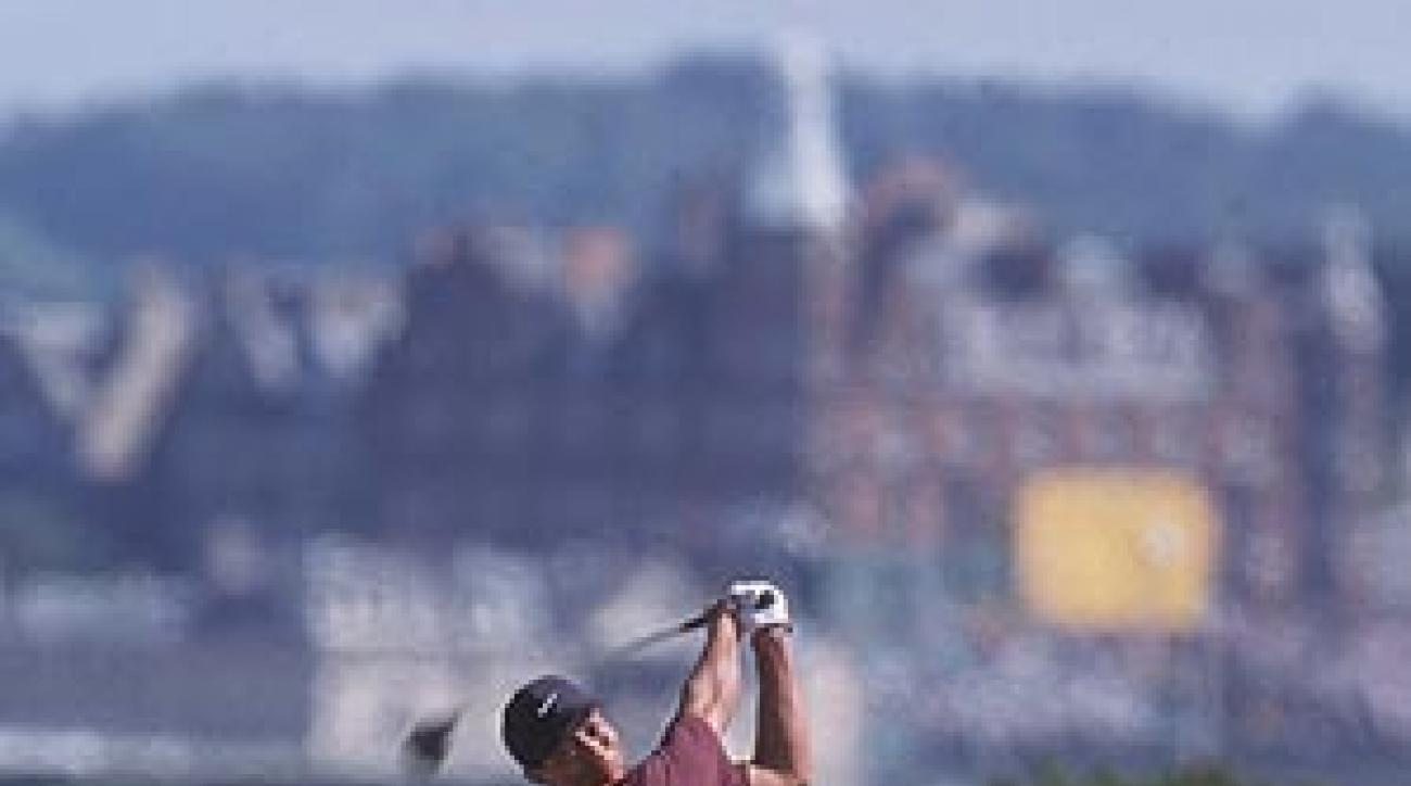 <p>Woods brought the Old Course at St. Andrews to its knees during the 2000 British Open, winning by eight shots over Ernie Els and Thomas Bjorn.</p>