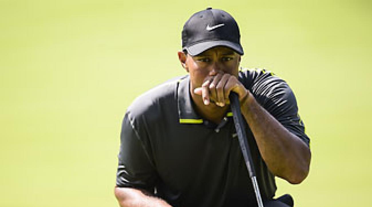 Tiger Woods shot 71 on Friday at the Bridgestone Invitational.