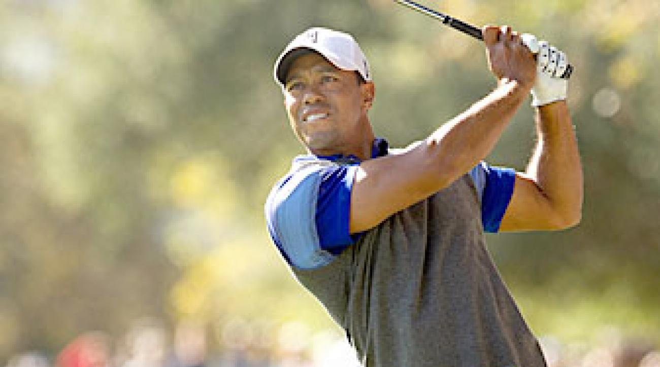 Tiger Woods shot a five-under 67.