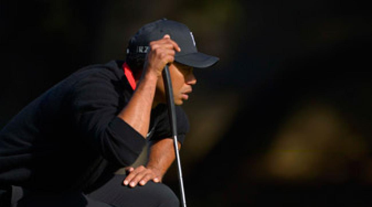 Tiger Woods was 48-5 worldwide after leading outright going into the final round, but his putting failed him on Sunday.