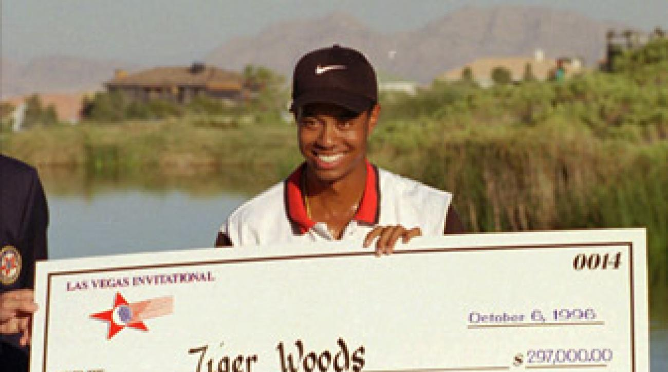 Tiger Woods won the Las Vegas Invitational in 1996, his first PGA Tour victory.