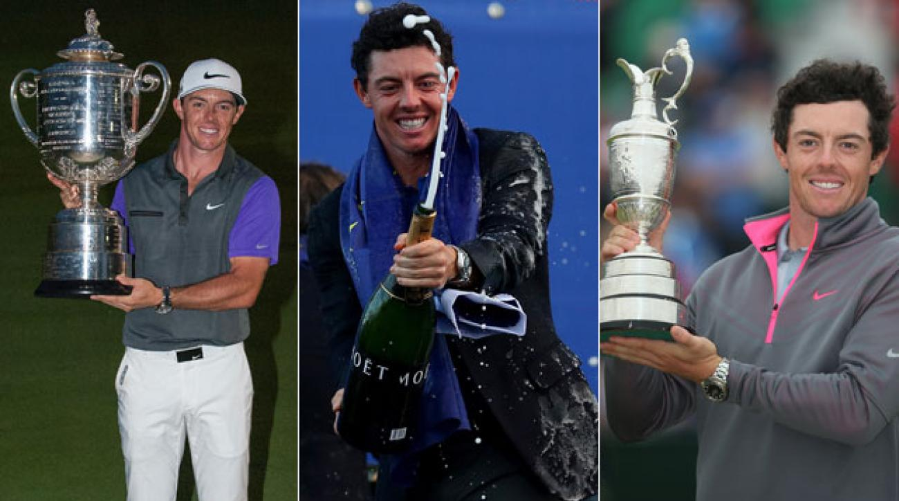 Rory McIlroy claimed two majors and a Ryder Cup victory in 2014.